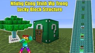 THỬ THÁCH 24H TÌM NHỮNG CÔNG TRÌNH VIP TRONG LUCKY BLOCK STRUCTURE ** ĐỒ SIÊU VIP TRONG LUCKY BLOCK