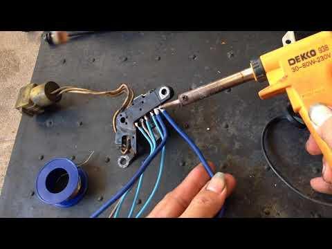 Alternator repair DIY .. placing regulator IC outside !!… redneck style !!! .. Isuzu Panther …