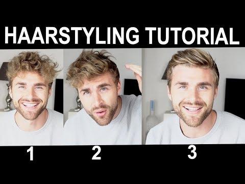 Haarstyling TUTORIAL für Männer bei etwas längeren Haaren ● HAIRSTYLE
