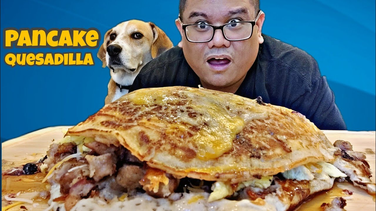 Massive Pancake Quesadilla | Home Cooking