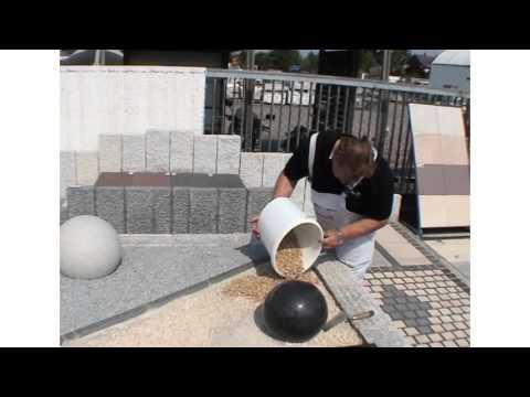 Как склеить природную гальку или каменную крошку