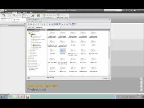 Autocad Inventor - Managing the Content Centre (Part 1)