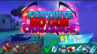 Fortnite - No Gun And No Kill Challenge (Steady Storm LTM) Winning a Game Of Fortnite Without a Gun