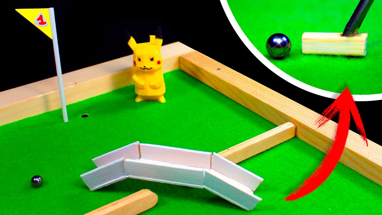 How To Make A Mini Golf Table At Home 3 Holes