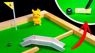 How To Make a MINI GOLF TABLE at Home (3 Holes)