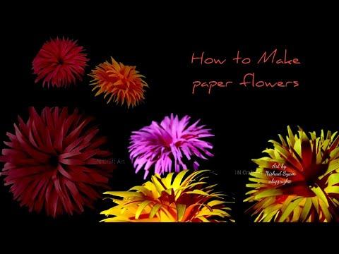 Paper craft art // flowers origami tutorial SN Craft