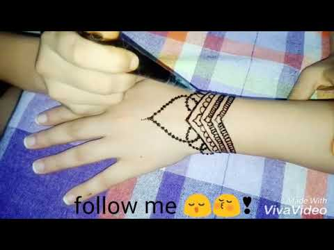 New tutoriel henné tatouage 👑💎 step by step follow at the end fore more 💞