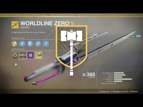 Destiny 2- Worldline Zero Masterwork Catalyst  100% Completion & In Action