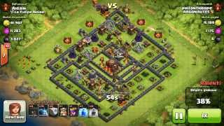 BM069 Balloons and Minions Strategy against champion level opponent - Clash of Clans CoC