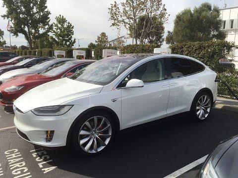 Tesla Model X P90D Insane Mode Launch Reaction Review