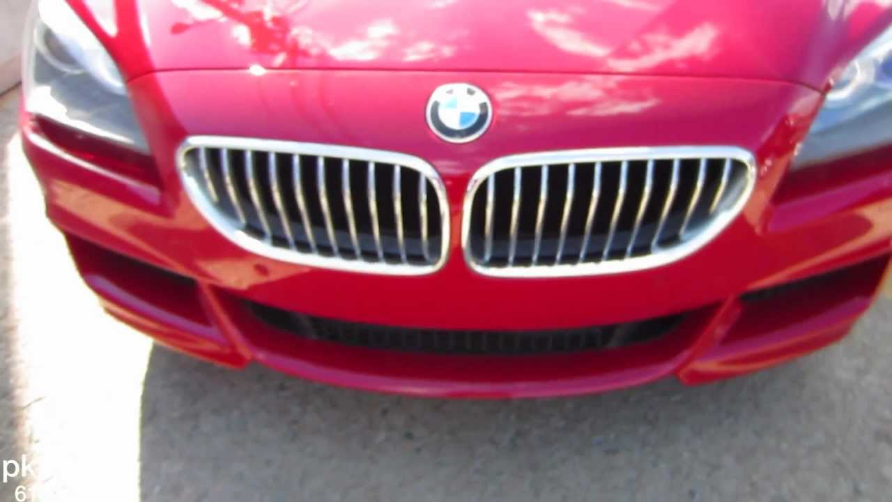 2013 BMW 650i Xdrive convertible Candy Apple Red  YouTube