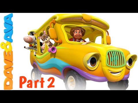 Thumbnail: Wheels on the Bus – Animal Sounds Song | Nursery Rhymes and Baby Songs from Dave and Ava