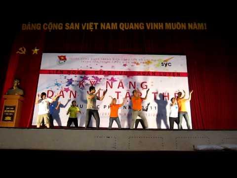 Dân vũ trống cơm - Trung tâm HT & PT Thanh niên Hà Nội - www.hanoiadc.org.vn