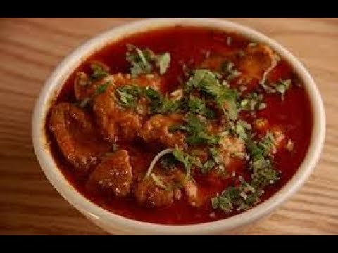 Spicy Onion Tomato Chicken Red Gravy Curry Recipe