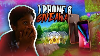 IPHONE 8 GIVEAWAY AT FORTNITE SHOUTOUTS