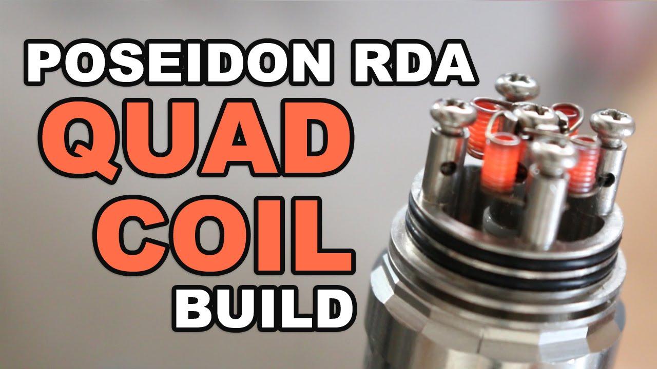 Poseidon Ii Rda For Box Mod Atomizer Quadcoil Kangertech Subtank