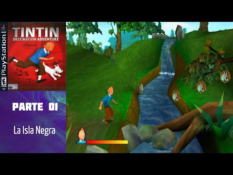 tintin:-destination-adventure-(ps1)-(español)-(100%)---nivel-01:-la-isla-negra