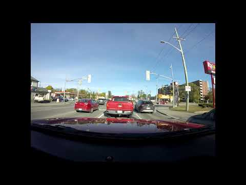 A Drive Down Dunlop St West in Barrie.