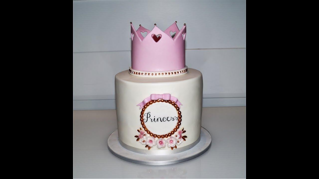 Cake Decorating Tutorials How To Make A Princess Crown Cake Sugarella Sweets
