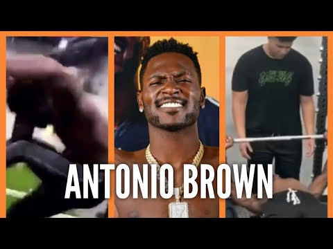 Antonio Brown Get Head Cracked By Weight Lifting Equipment In Gym