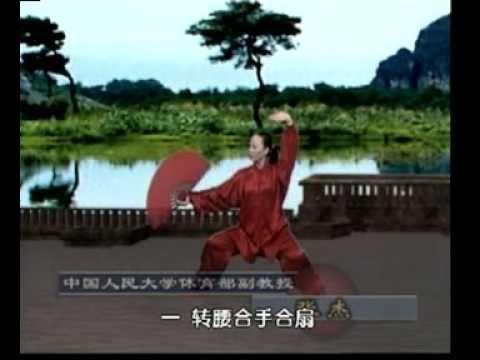 52 Taiji gongfu fan/ waaier set 2 (movements 10-17/52 ) 太极功夫扇