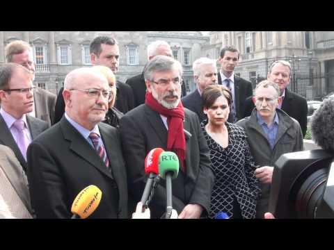 New Sinn Féin team enter Dáil