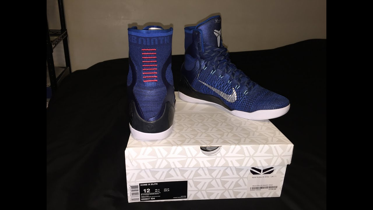 lowest price 82c81 7baba Nike Kobe 9 IX Elite Brave Blue Legacy Review