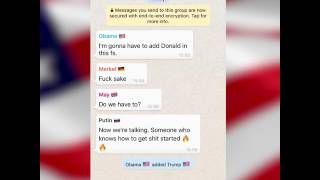 The world leaders group chat before Trump's inauguration