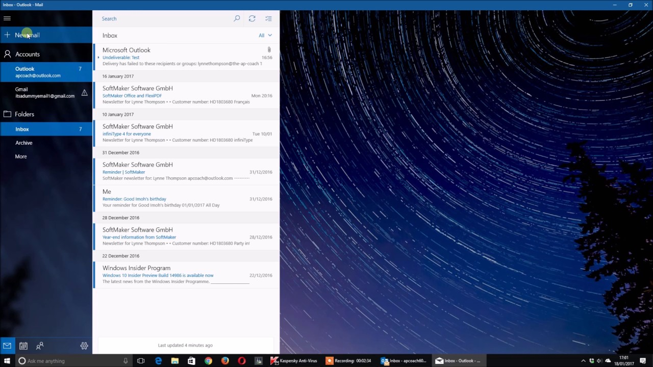 Windows 10 Mail App Creating E mail Groups