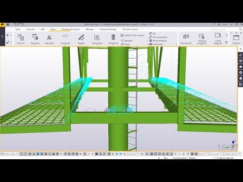 How to create an Outdoor advertising billboard Steel Structure in Tekla Structures 2018