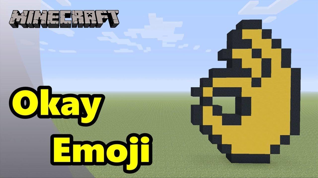 Minecraft Pixel Art Tutorial Okay Emoji