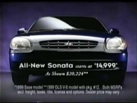 1999 Hyundai Sonata Commercial Youtube