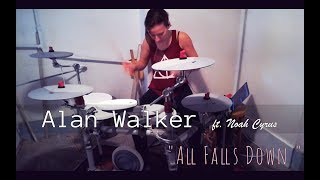 Download Lagu Alan Walker - All Falls Down ft. Noah Cyrus | DRUM COVER Mp3