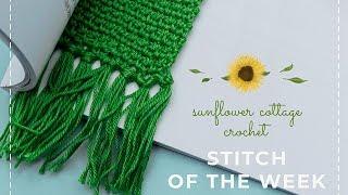 Woven Stitch Bookmark Tutorial