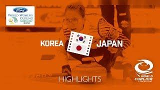 HIGHLIGHTS: Korea v Japan – Round-robin – Ford World Women's Curling Championship 2018