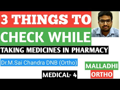 3 Things to check while taking medicines in pharmacy
