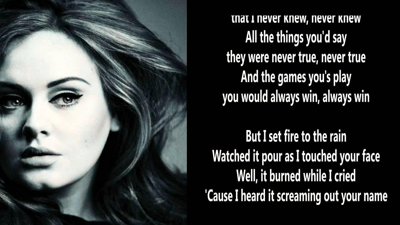 adele set fire to the rain karaoke free download