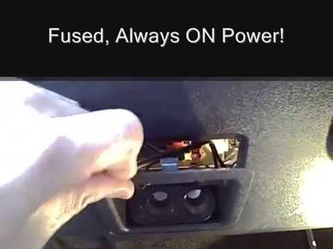 Installing An Quot Always On Quot Cigarette Lighter Port Youtube
