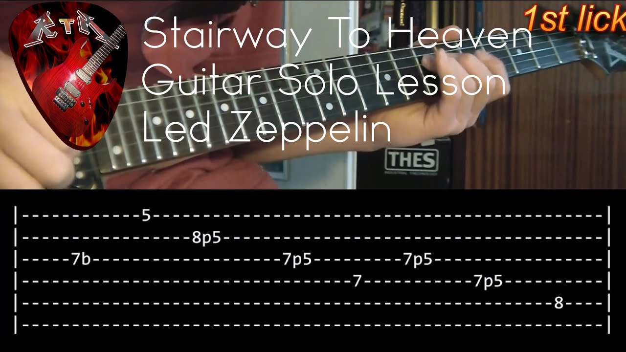 Stairway To Heaven Guitar Solo Lesson Led Zeppelin With Tabs Youtube