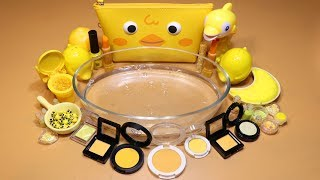 special series 05 mixing yellow makeuppartsglitter into slime how about yellow