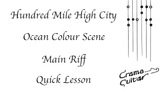 Hundred Mile High City - Ocean Colour Scene - Main riff quick lesson