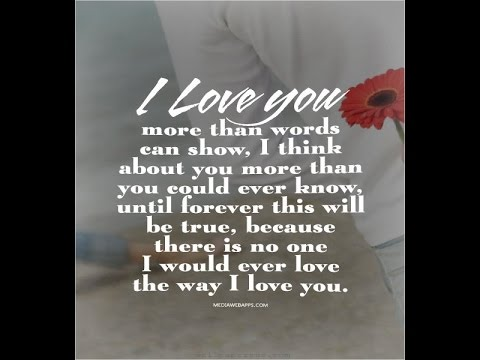 The More I Be informed You The More I Love You