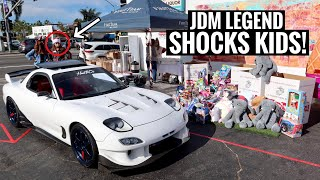 Rare Rx-7 Surprises Kids at Christmas Toy Drive!