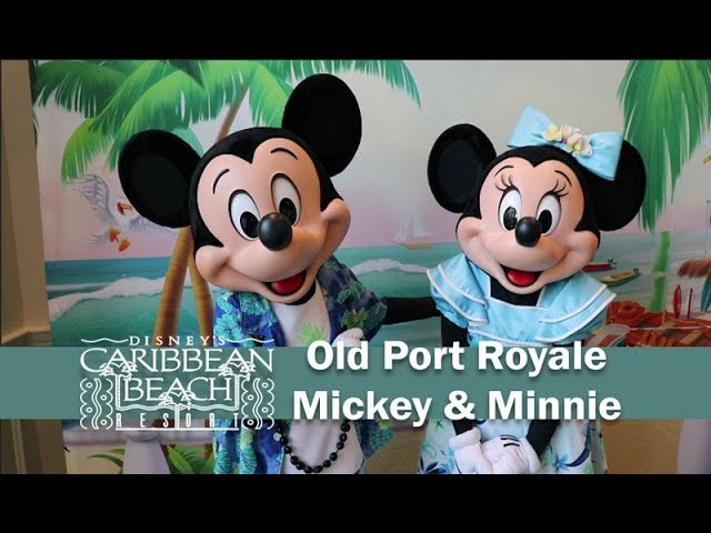 Meeting Mickey and Minnie at Disney's Caribbean Beach Old Port Royale Grand Opening Day