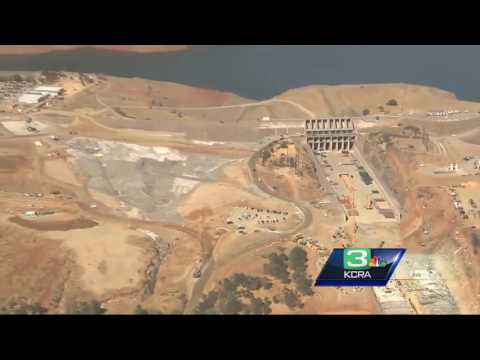 6 months later: Aerial video shows work at Oroville Dam