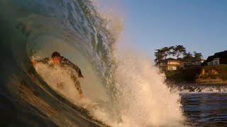 A Huge Swell Hits Santa Cruz! *BARRELS*