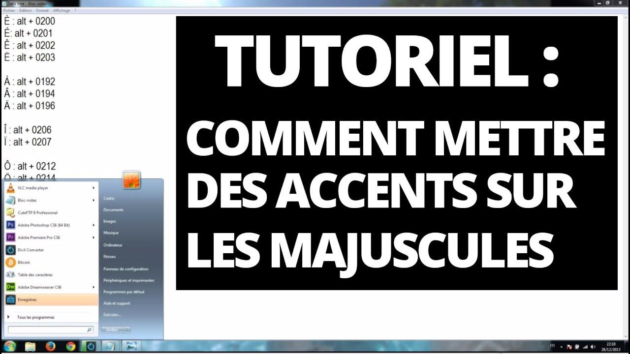 Accent et majuscule comment mettre des accents sur les majuscules youtube - Comment mettre un enduit de lissage ...