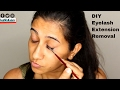 DIY Permanent Lash Extension Removal - at home   FeatWidColors
