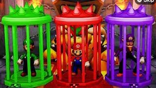 Mario Party The Top 100 MiniGames - Luigi Vs Mario Vs Waluigi Vs Peach (Master CPU)