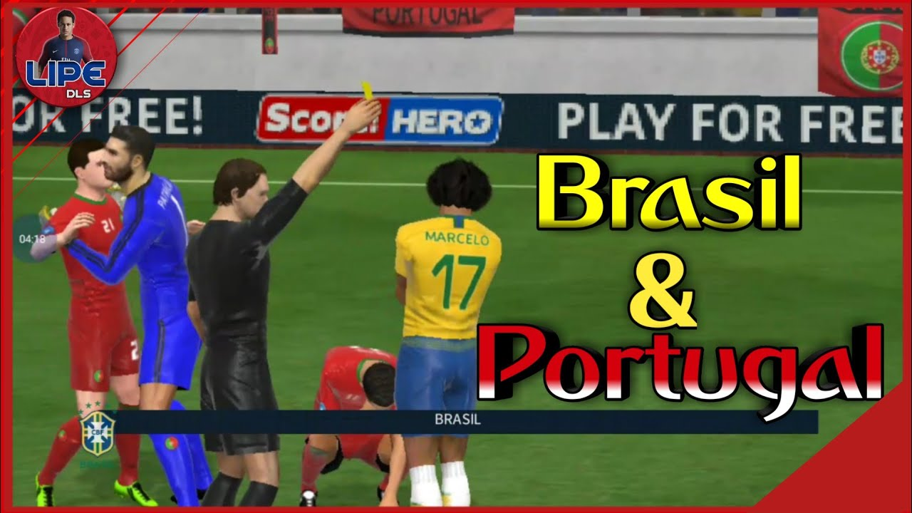 Dream League Soccer 18 - Gameplay - Brasil VS Portugal - World Cup Russia  2018